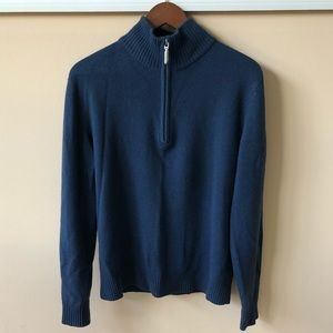 NWOT BMW 1/4 zip wool sweater